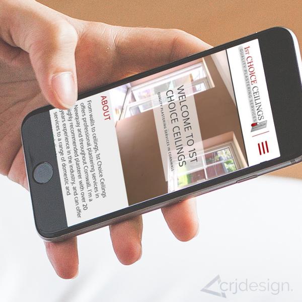 Plasterer Website Design Branding Logo CRJ Design Newquay