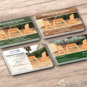 Furniture Garden Business Cards Print CRJ Design Newquay