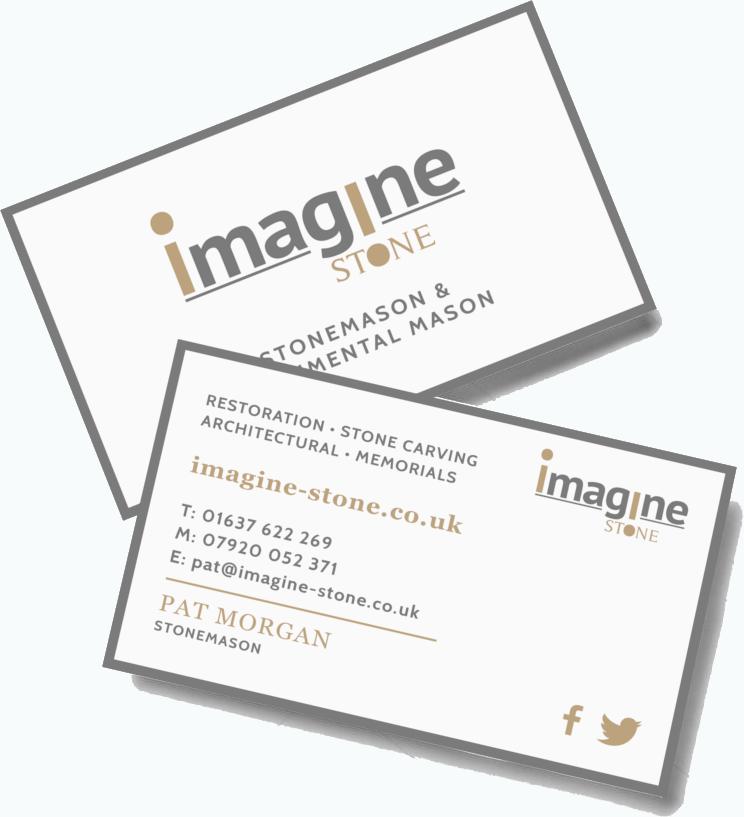 Stonemason Branding Business Cards CRJ Design Newquay