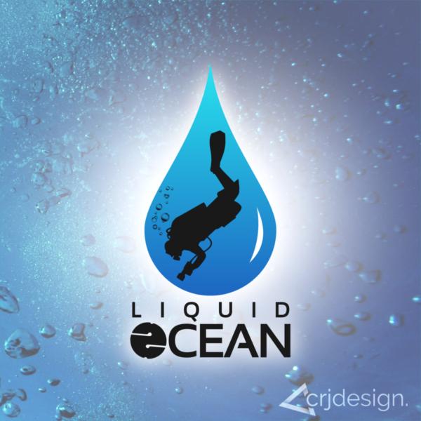 Diving Logo Branding Design CRJ Design Newquay