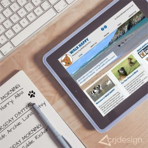 Dog Walking Website Design Logo Branding CRJ Design Newquay