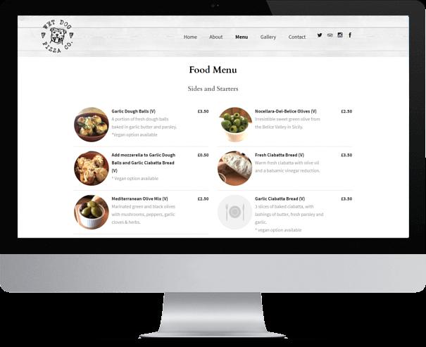 Pizza Website Design CRJ Design Newquay