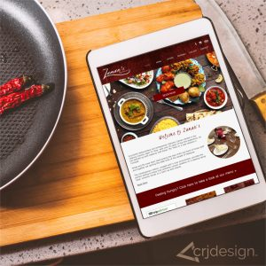 Indian Food Restaurant Website Design CRJ Design Newquay