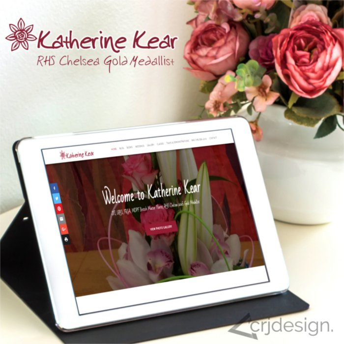Katherine Kear Florist Website Design Newquay by CRJ Design
