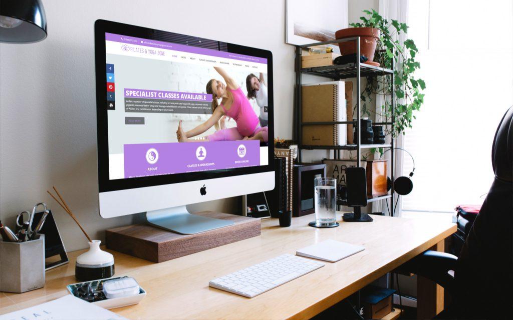 Yoga Website Design by CRJ Design Newquay