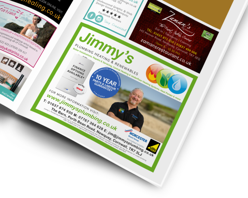 Jimmy's Plumbing Plumber Boiler Worcester Advert by CRJ Design Newquay