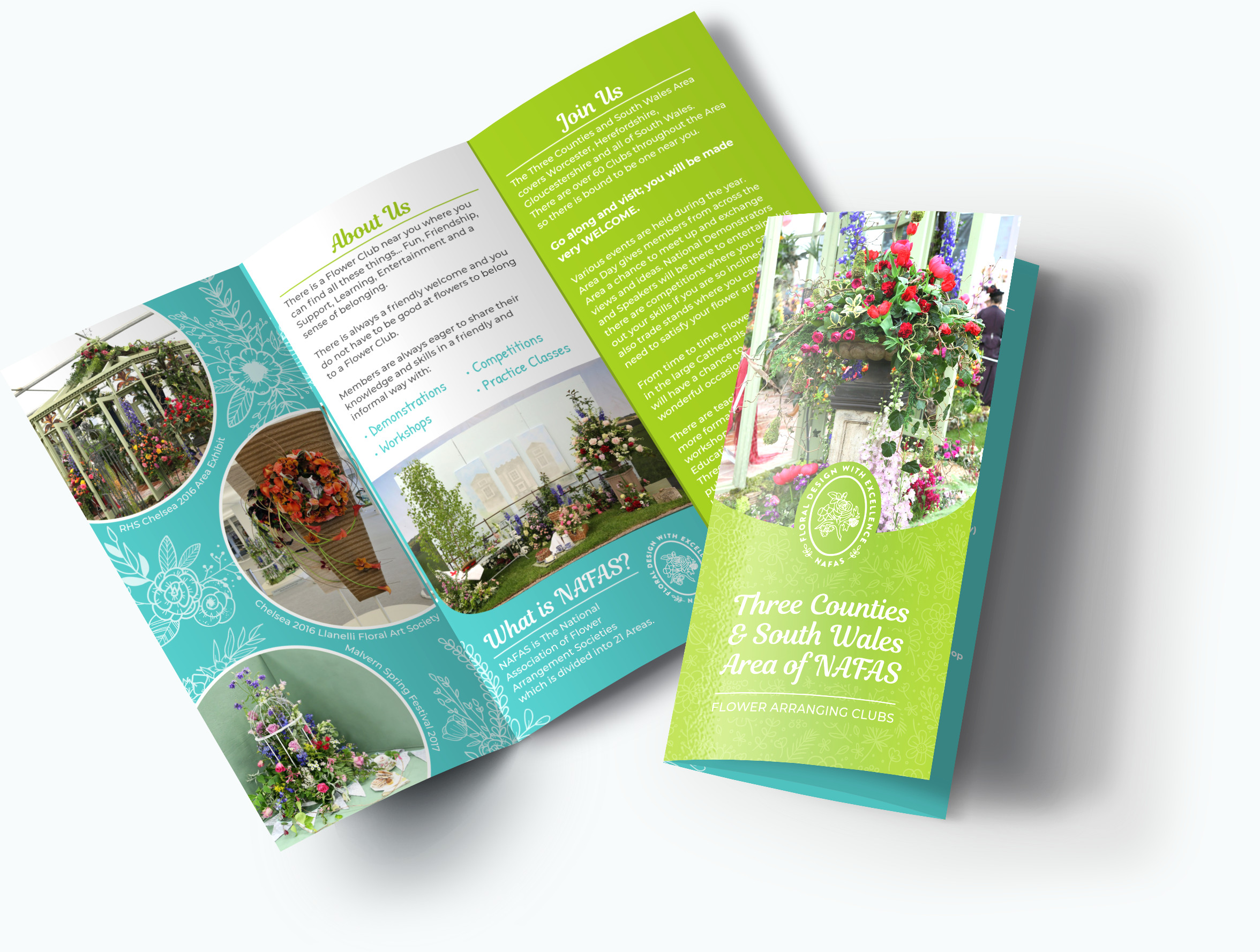 NAFAS Leaflet Brochure by CRJ Design Newquay