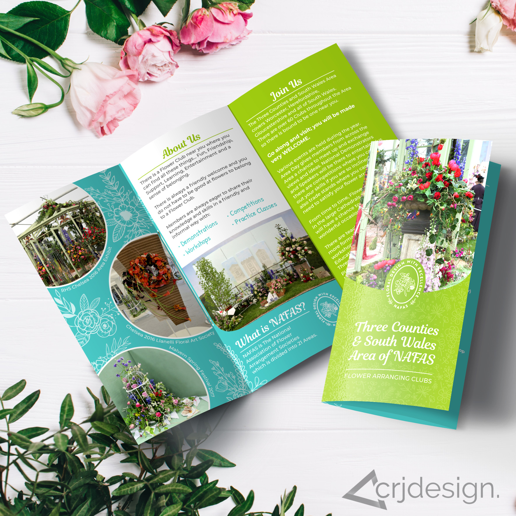 NAFAS Brochure Leaflet Florist by CRJ Design Newquay