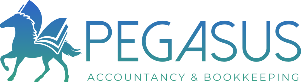 Pegasus Accountancy Bookkeeping Accountant Cornwall Logo Branding by CRJ Design